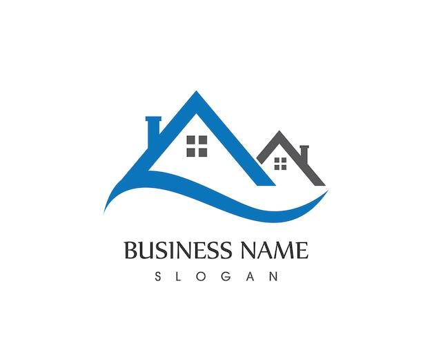 Immobiliengebäude home-logo-design