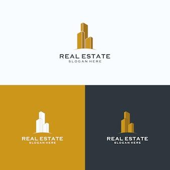 Immobiliengebäude logo
