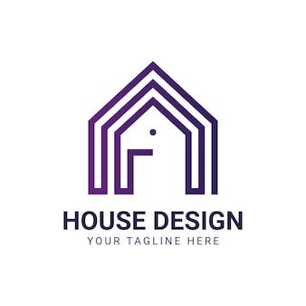 Immobilienhaus logo Premium Vektoren