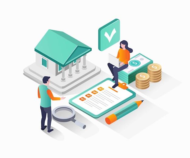 Immobilieninvestitionsplan Premium Vektoren