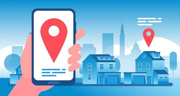 Immobilienkonzept kauf, verkauf und vermietung von immobilien und wohnung network marketing agency advertisement hintergrund