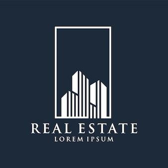 Immobilienlogo erstklassiger vektor