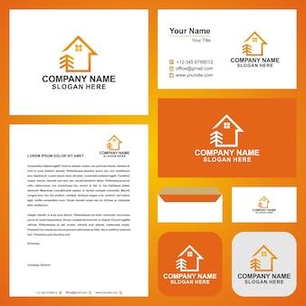 Immobilienlogo und visitenkartenvorlage