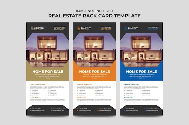 Immobilienmakler und bau business rack karte oder dl flyer vorlage