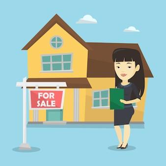 Immobilienmakler unterzeichnen vertrag.