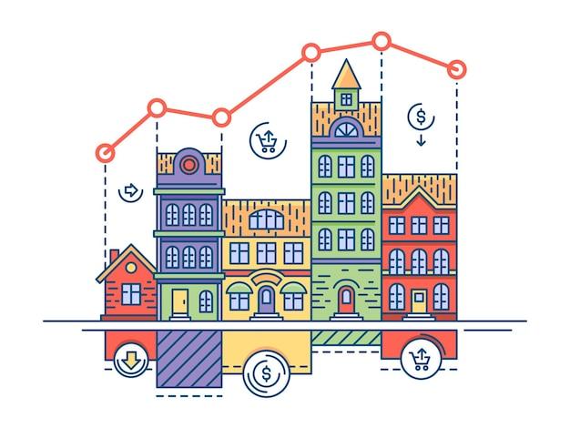 Immobilienmarkt. haus verkaufen und nach hause kaufen.