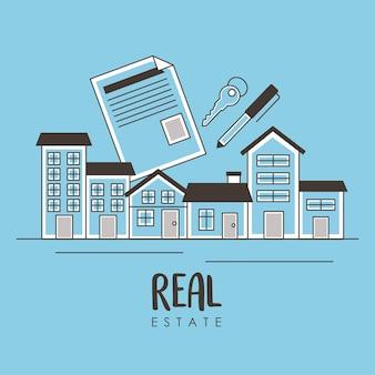 Immobiliennachbarschaft