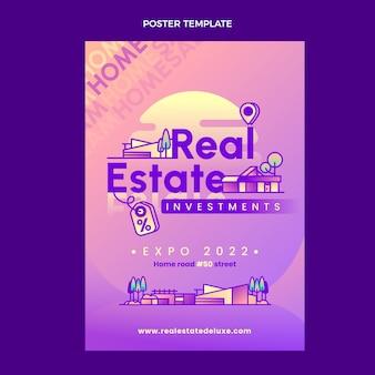 Immobilienplakatvorlage mit farbverlauf