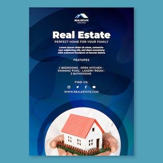 Immobilienplakatvorlage