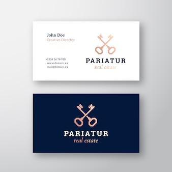 Immobilienschlüssel abstraktes zeichen oder logo