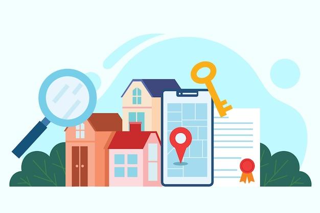 Immobiliensuchkonzept