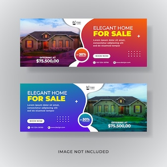 Immobilienverkauf social media banner oder cover facebook