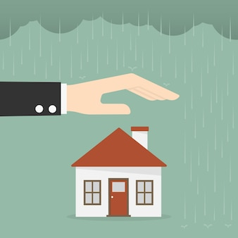 Immobilienversicherung und sicherheitskonzept.