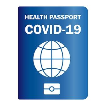 Immunitätsausweis. geimpfter gesundheitspass. papierdokument zum nachweis, dass eine person mit dem covid-19-impfstoff geimpft wurde. immunitätspapierdokument gegen coronavirus. vektor