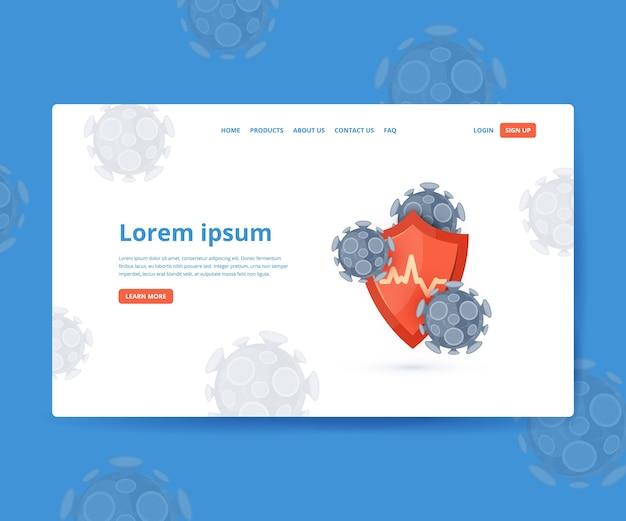 Immunitätsbanner. immunsystemkonzept. medical hero bild für kliniken, krankenhäuser, gesundheits-websites.