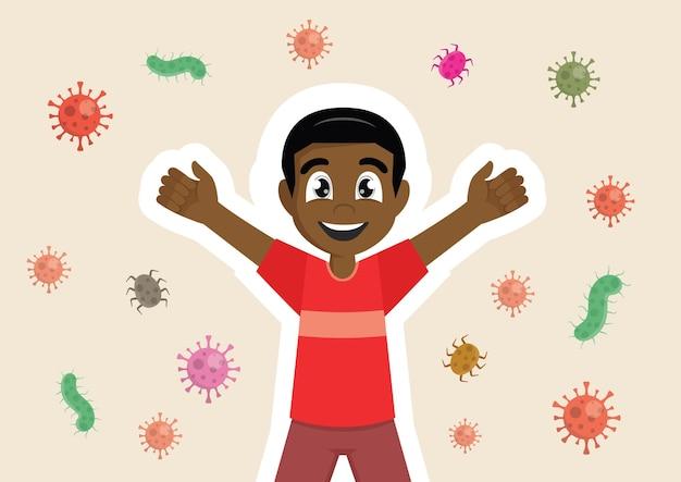 Immunschutzsystem für afrikanische jungen