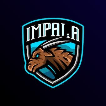 Impala maskottchen logo esport spiel