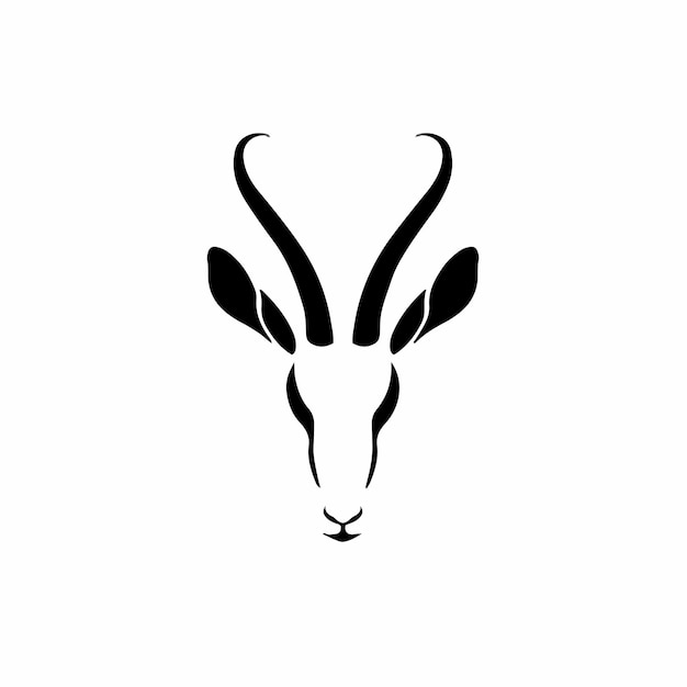 Impala symbol logo tattoo design schablone vektor illustration