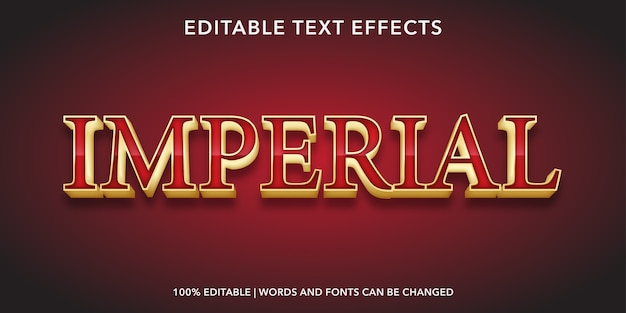 Imperial editable text effect