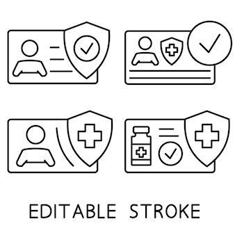 Impfbescheinigung symbol für informationen in der patientenakte krankenakte gesundheitskarte