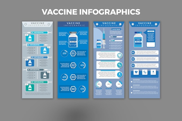 Impfstoff-infografik-vorlagendesign