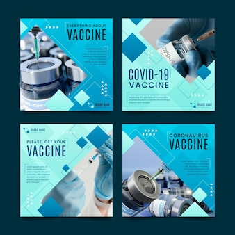 Impfstoff instagram post set mit fotos