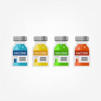Impfstoff ist krankheits- und virusschutz für medizinische auf weiß