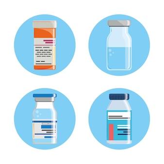 Impfstoff-medikamenten-set