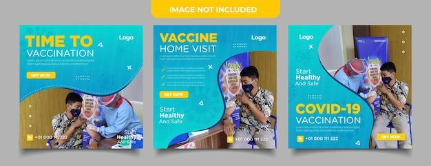 Impfstoff social-media-beitragssammlung