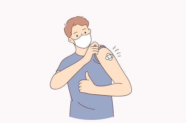 Impfung gegen covid-konzept