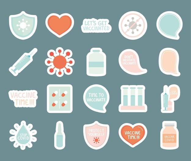 Impfzeit-icon-set