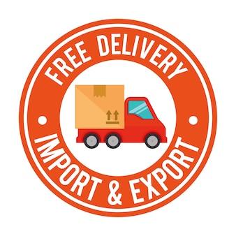 Import kostenloser lieferwagen