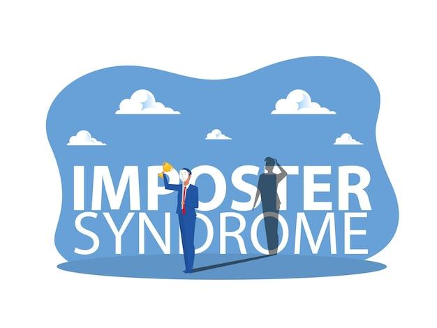 Imposter-syndrom, geschäft mit karnevalsmasken mit fröhlichen oder traurigen ausdrücken.