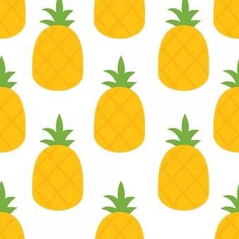 In den sommerferien helle ananas