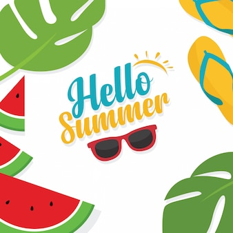 In den sommerferien sommerschlussverkaufhintergrundplan-fahnenschablone