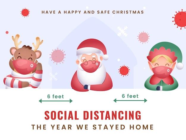 In diesem jahr feiern wir frohe weihnachten zu hause mit sozialer distanz