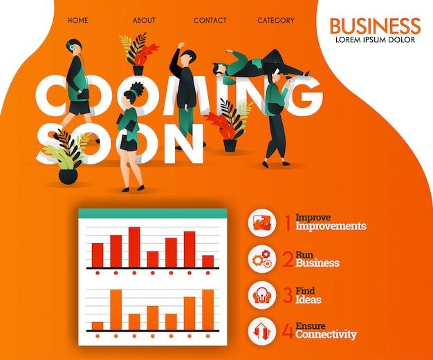 In kürze orange webvorlage