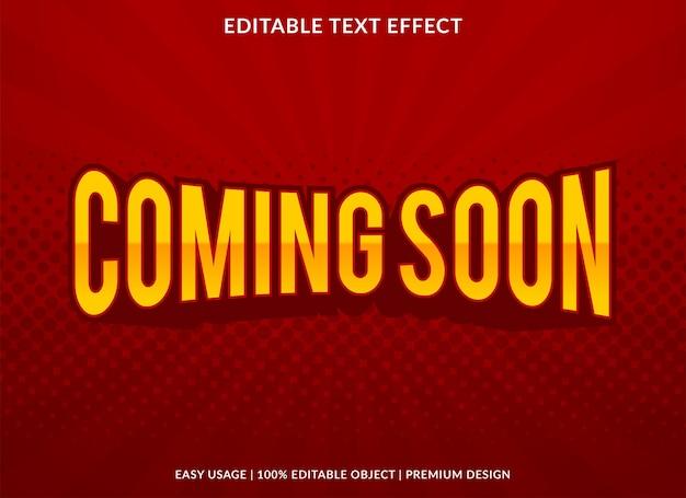 In kürze text-effekt-vorlage design mit abstraktem stil