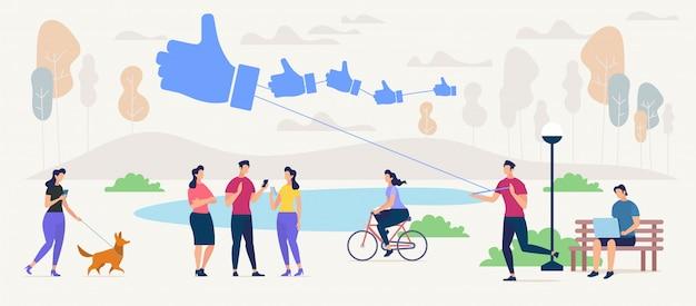 In verbindung stehen und neue freunde im konzept des sozialen netzes finden