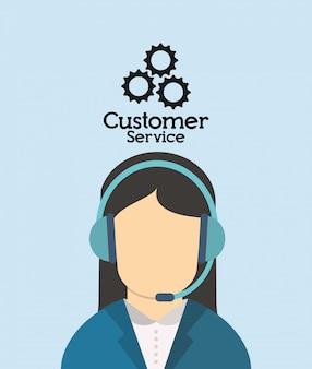 In verbindung stehendes ikonenbild des kundendienstes