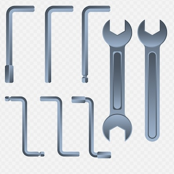 Inbusschlüssel und schlüssel