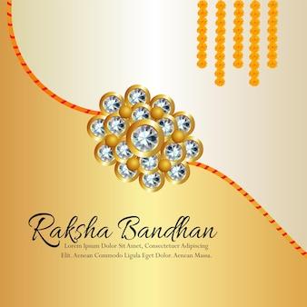 Indain-festival glücklicher raksha-bandhan-feierhintergrund