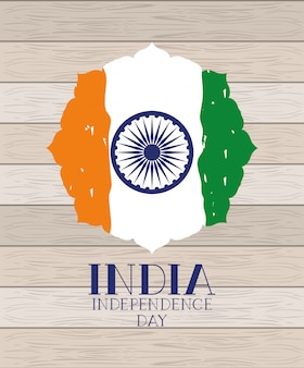 Independence day indische flagge
