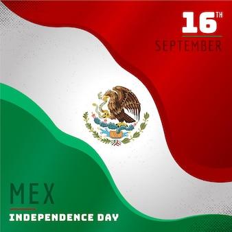 Independencia de méxico mit flagge