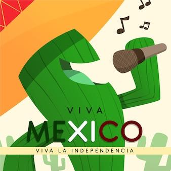 Independencia de méxico mit kaktusgesang