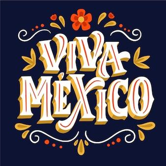 Independencia de méxico - schriftzug