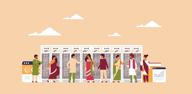 Inder arbeiten rechenzentrum banner