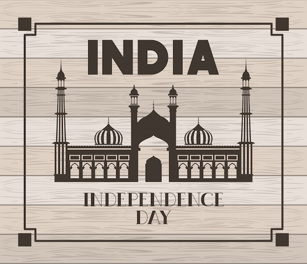 Inder jama masjid tempel mit hölzernem
