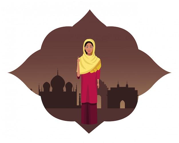 Inderin avatar zeichentrickfigur