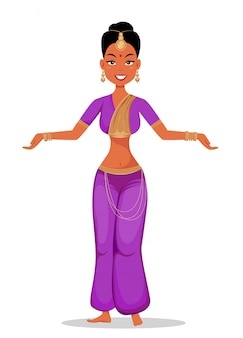 Inderin in traditioneller kleidung